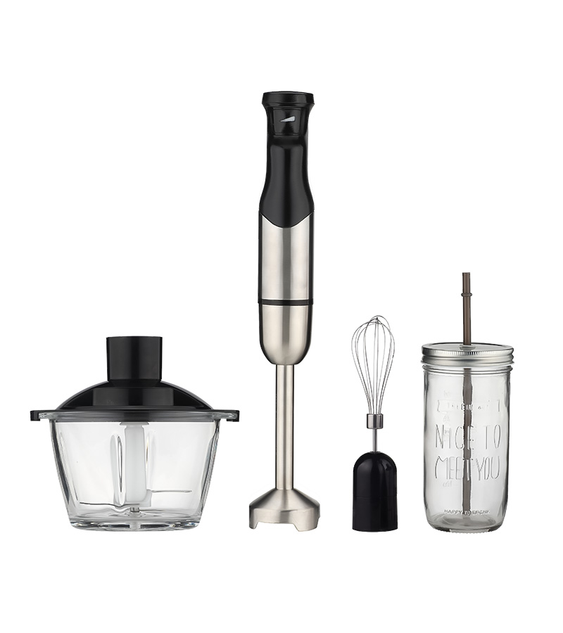 High Speed Stepless Stainless Steel Immersion Hand Blender